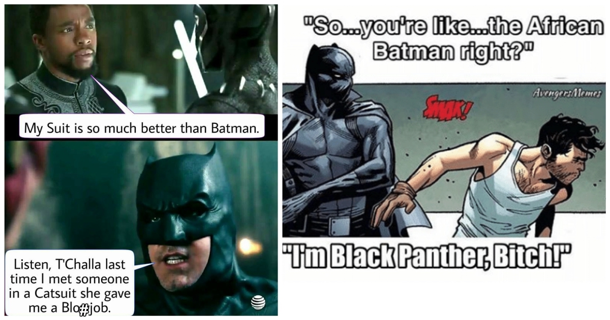 13 Hysterically Funny Black Panther Vs Batman Memes Best Of Comic Books