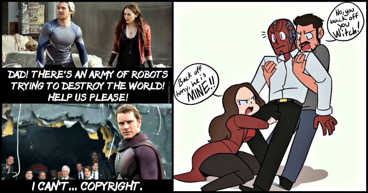 15 Hilarious Vision And Scarlett Witch Memes Prove They Are The