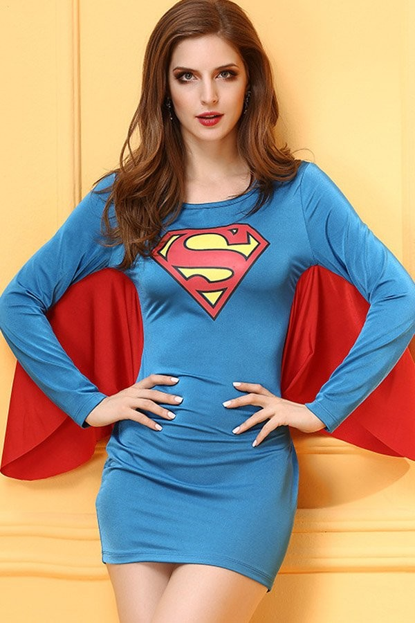 Sexy cosplay supergirl hot with you