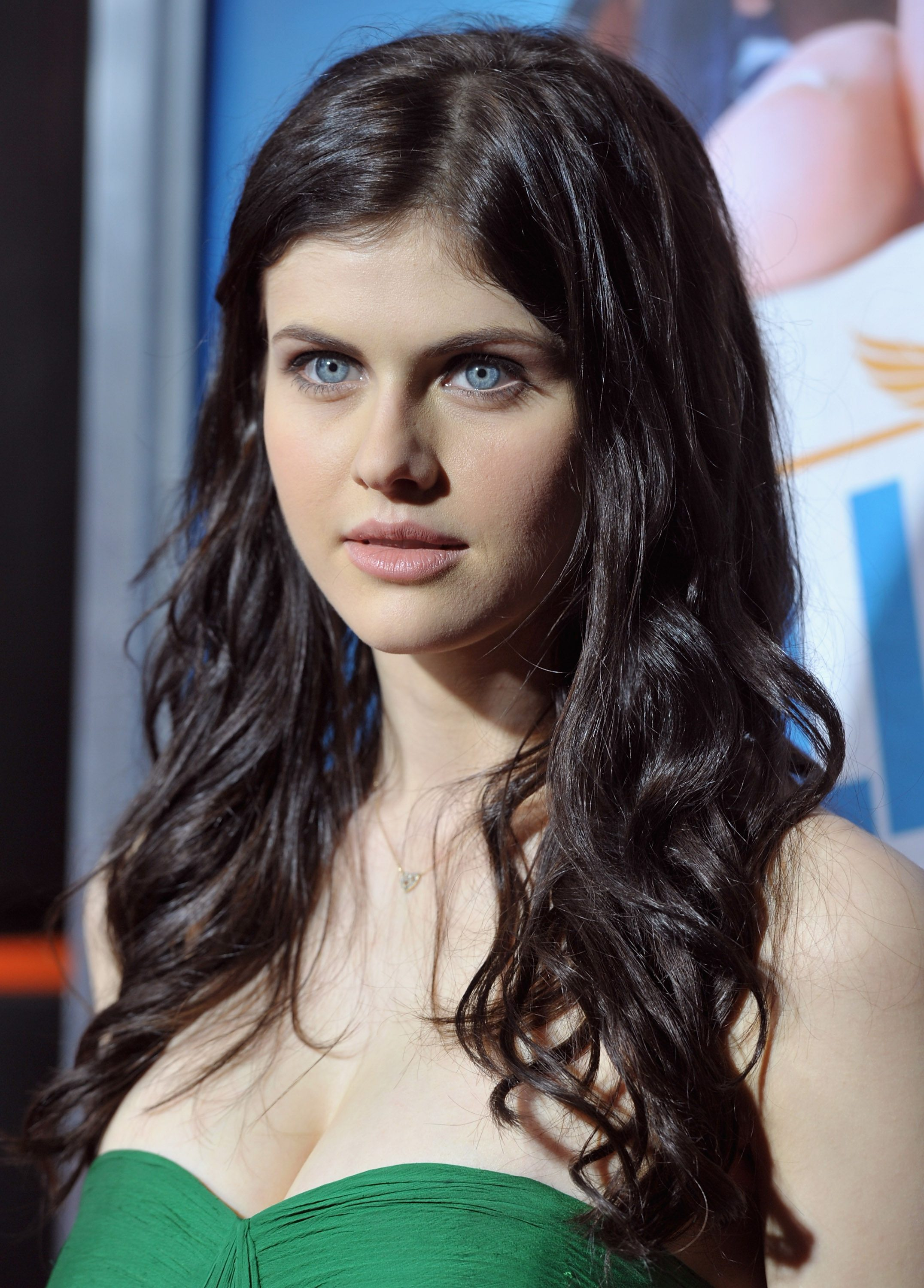 Alexandra Daddario Hot in Green