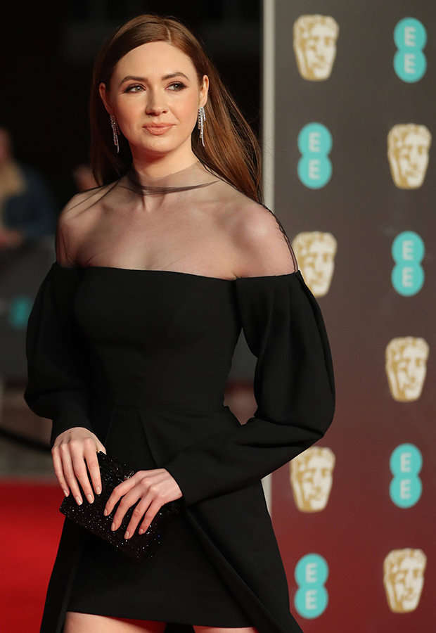 Karen Gillan Black Dress