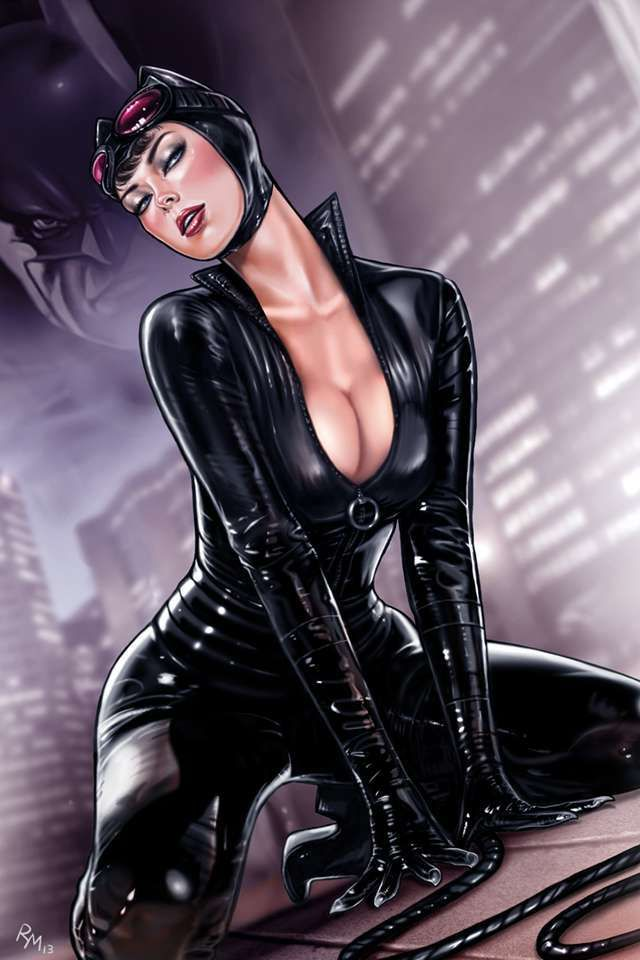 Catwoman cleavage