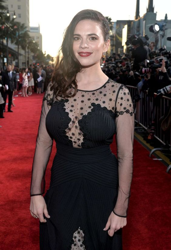 Hayley Atwell hot in black