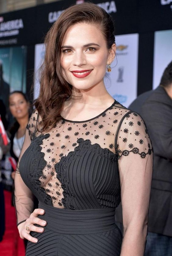 Hayley Atwell sexy black