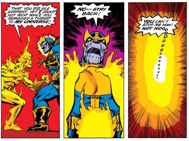 Adam warlock beat Thanos