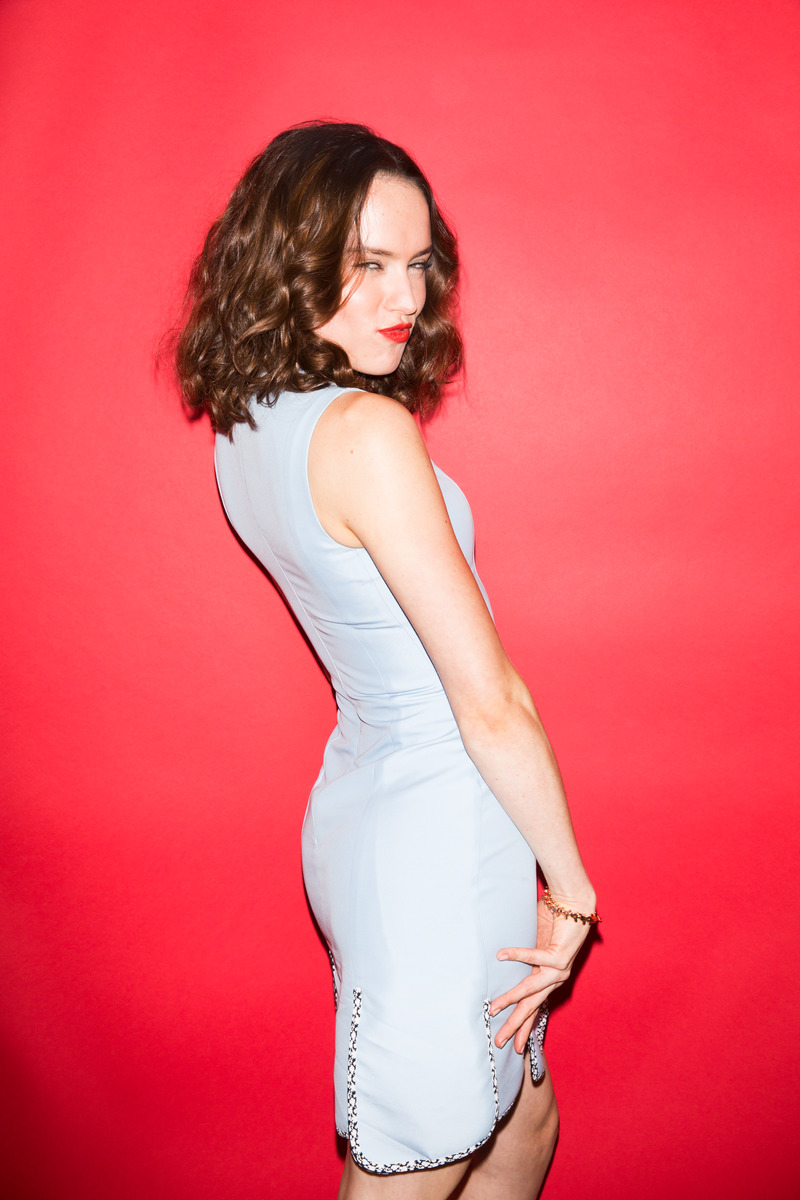 Daisy Ridley in Red Lips