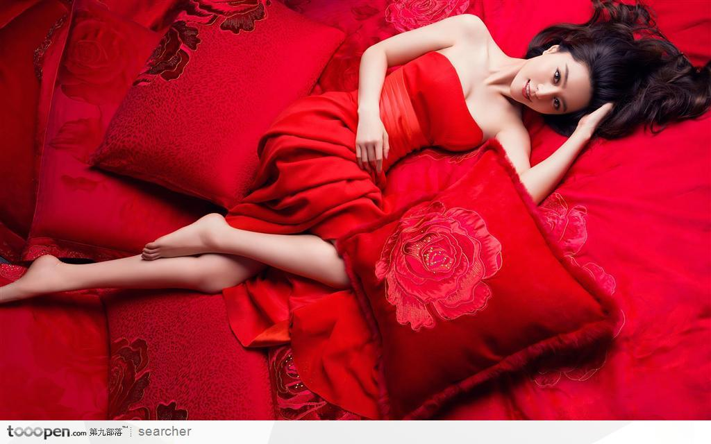 Fan Bing Bing Hot Red