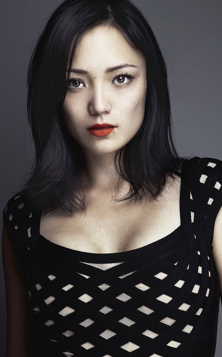 Pom Klementieff red lips