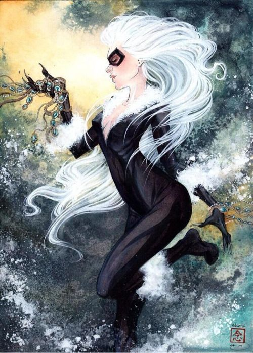 Black Cat White Hair
