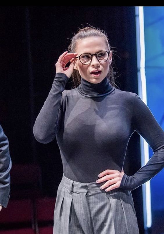 Hayley Atwell in glasses