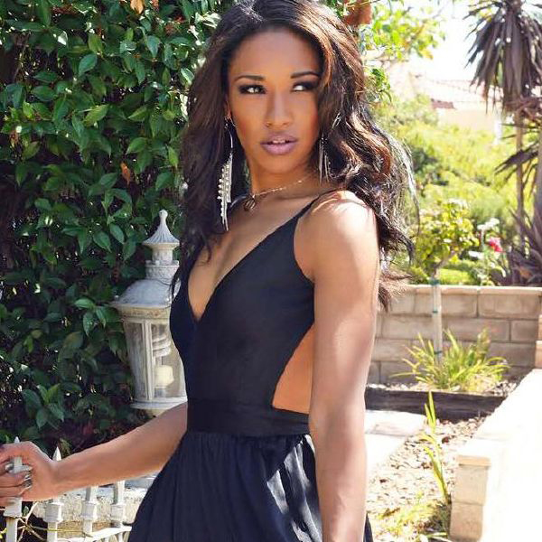 Candice Patton Black Dress
