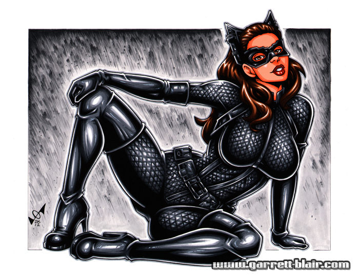 Catwoman naked big tits animated