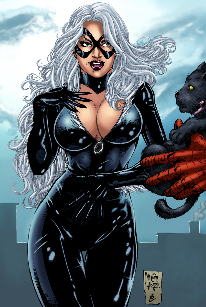 Black Cat Cleavage