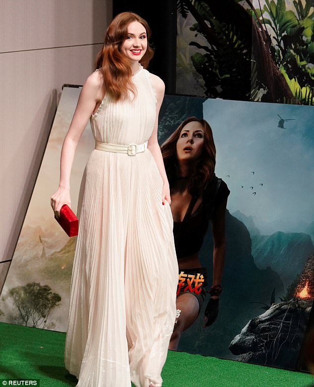 Karen Gillan White Dress