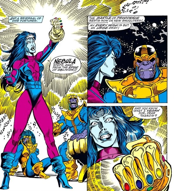 Nebula defeated Thanos