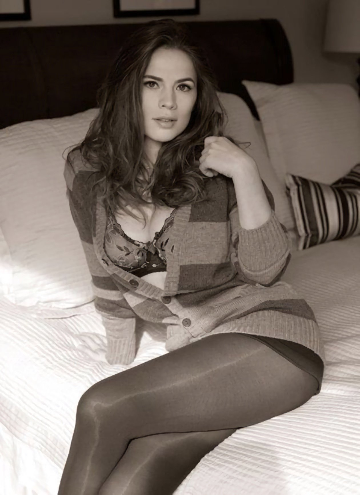 Hayley Atwell on bed