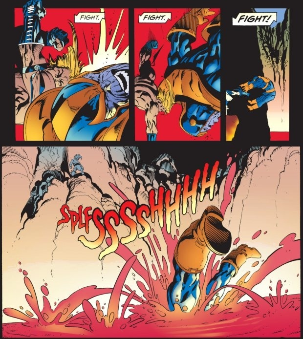 Thanos defeated in comics
