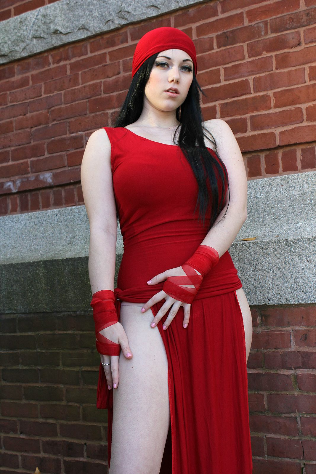 Elektra Cosplays Hot & Sexy in Red