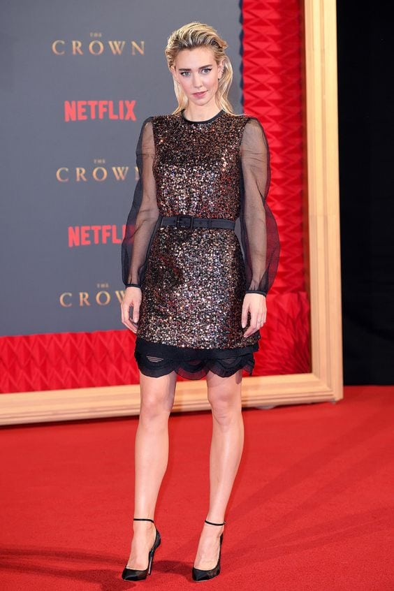 Vanessa Kirby in Black Dress
