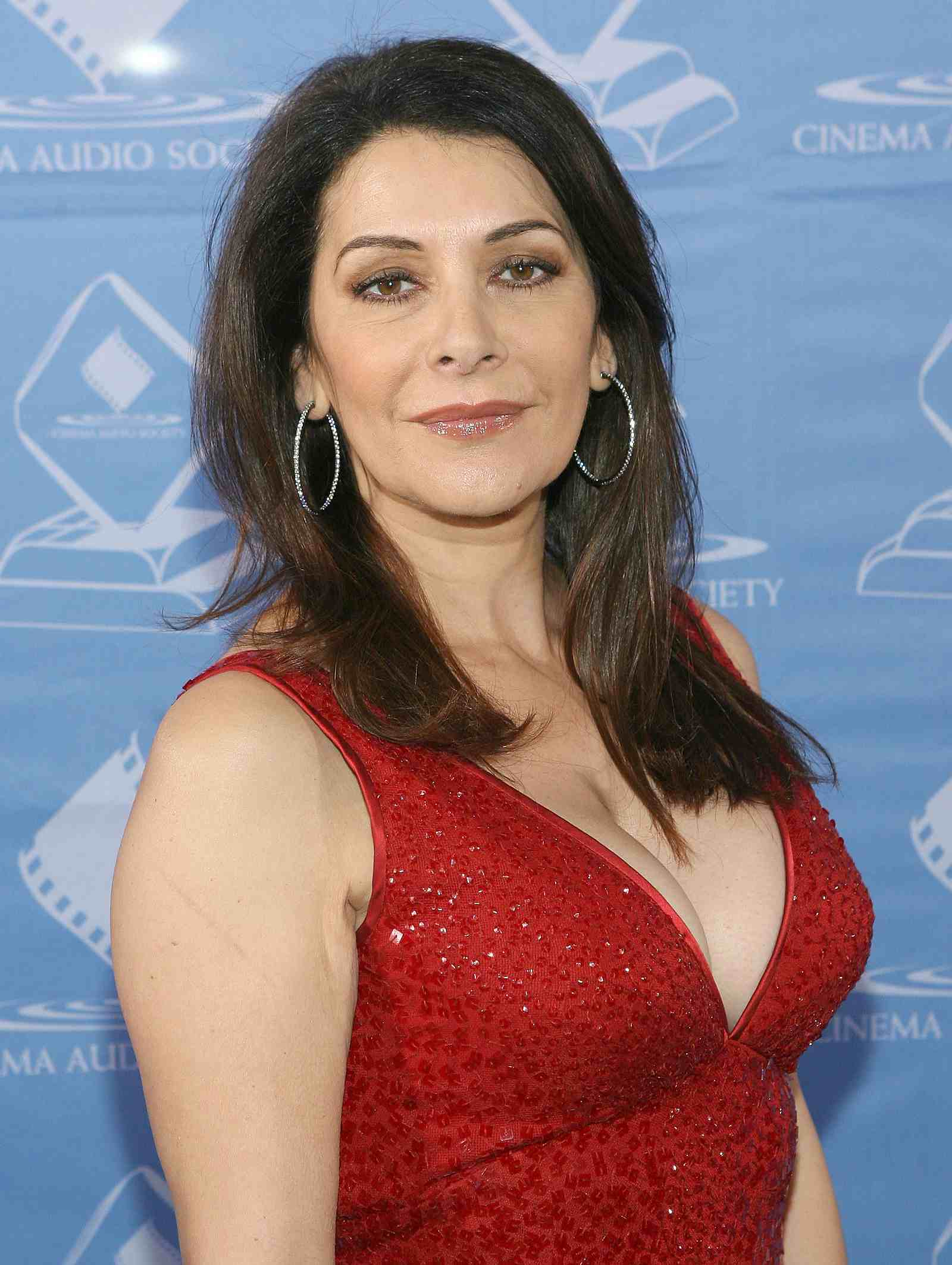 Marina Sirtis in Red Dress