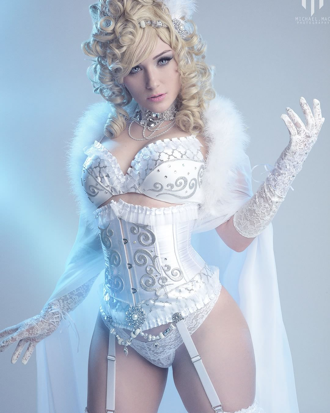 emma frost sexy in white