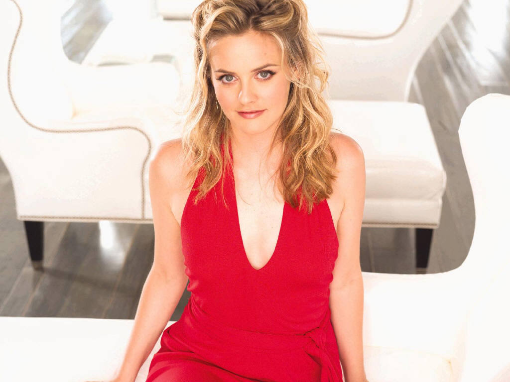 Alicia Silverstone Sexy in Red