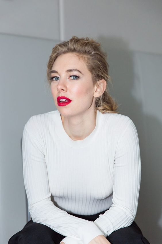 Vanessa Kirby in Red Lips