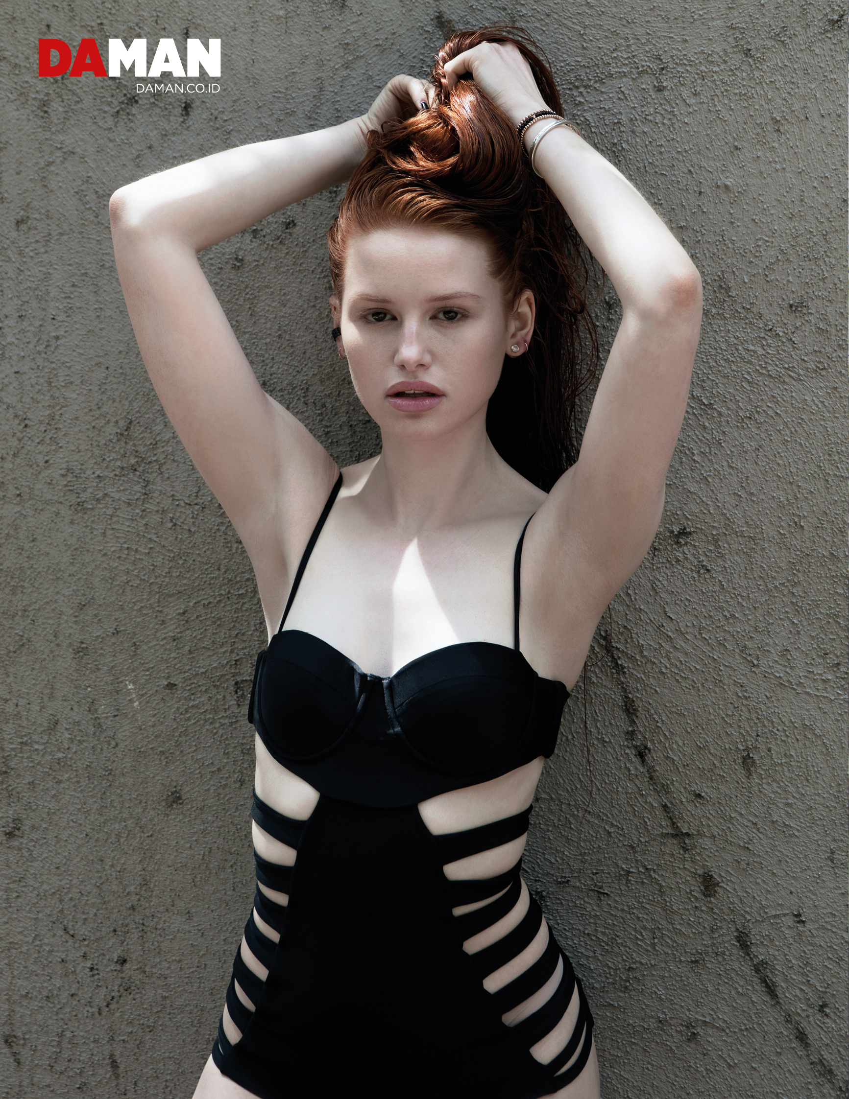 Madelaine Petsch Hot in Black