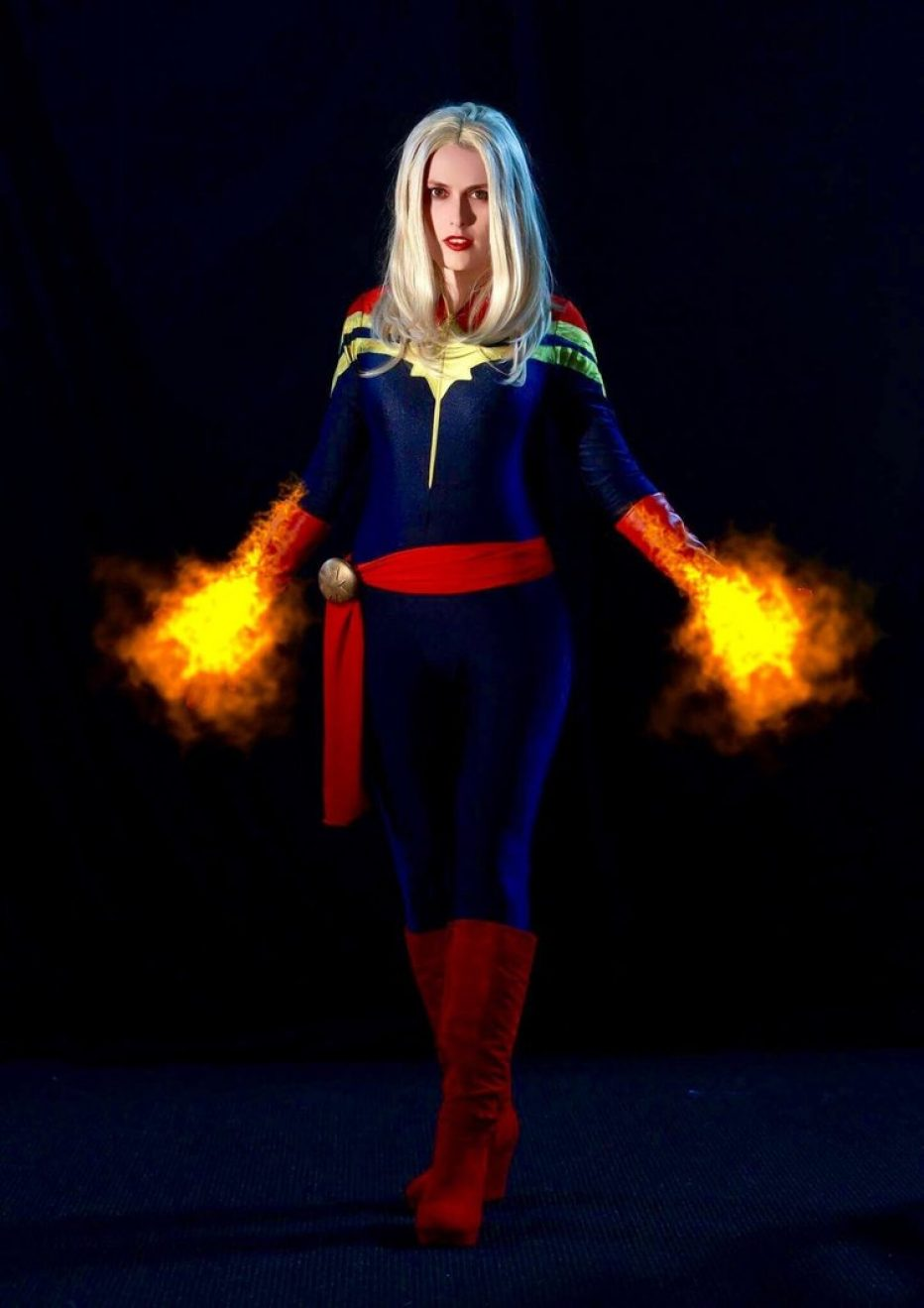 Captain Marvel on Photoshoot
