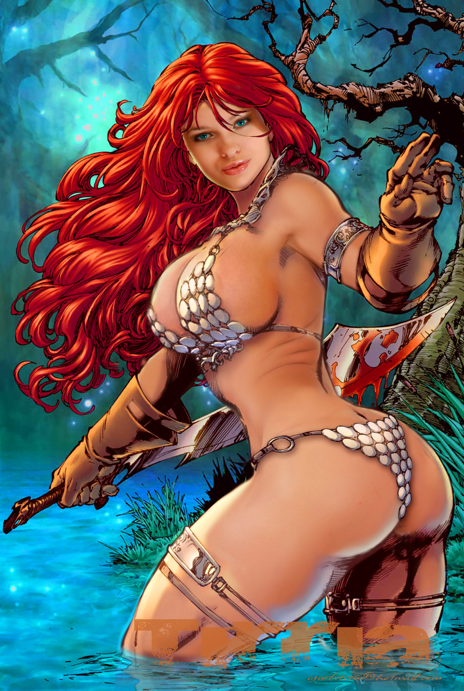 Red sonja tits myvideo, candice cardinelle go naked