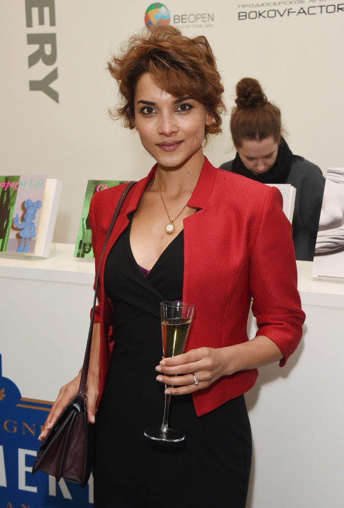 Amber Rose Revah with Drink