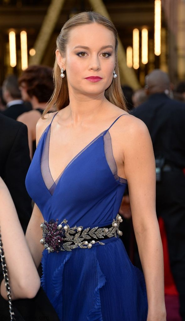 Brie Larson Blue Dress