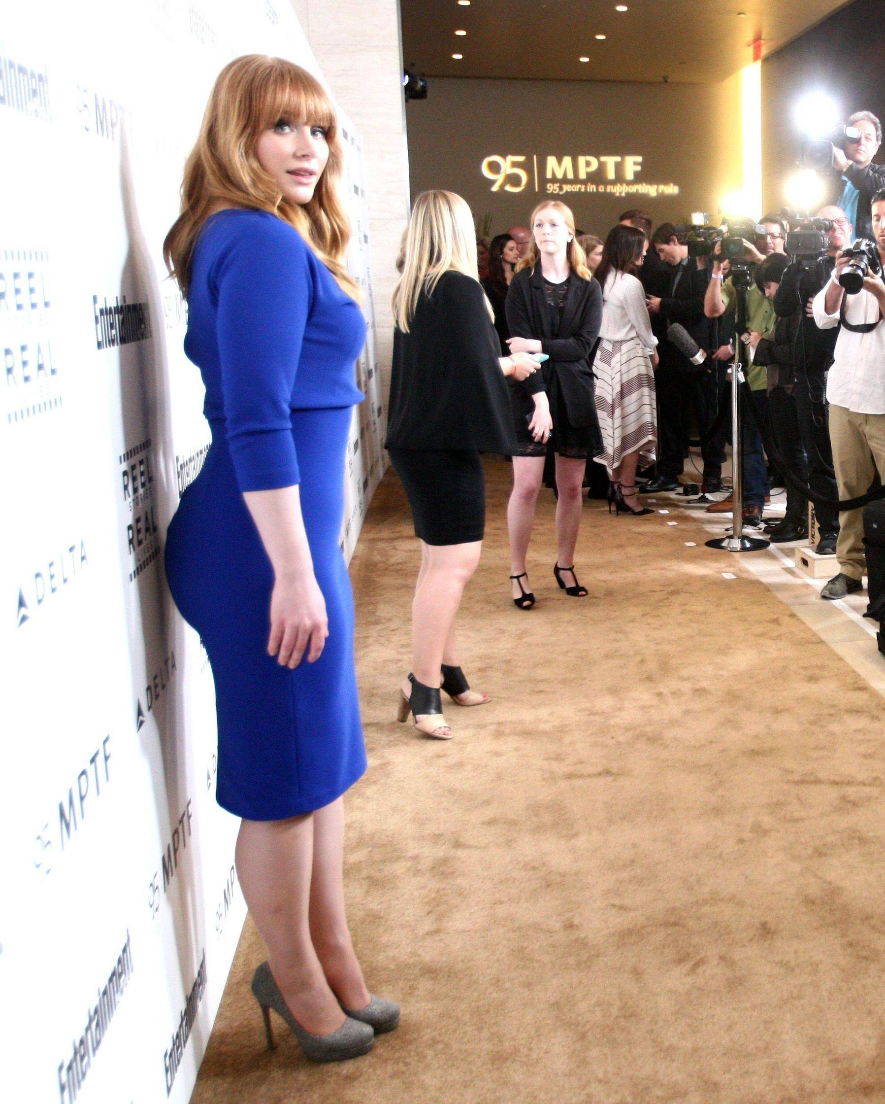 Bryce Dallas Howard Sexy Blue Dress