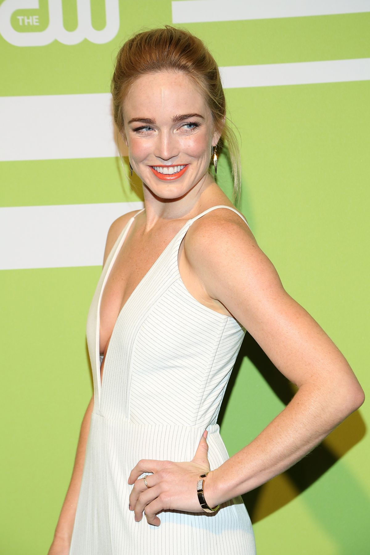 Caity Lotz White Dress