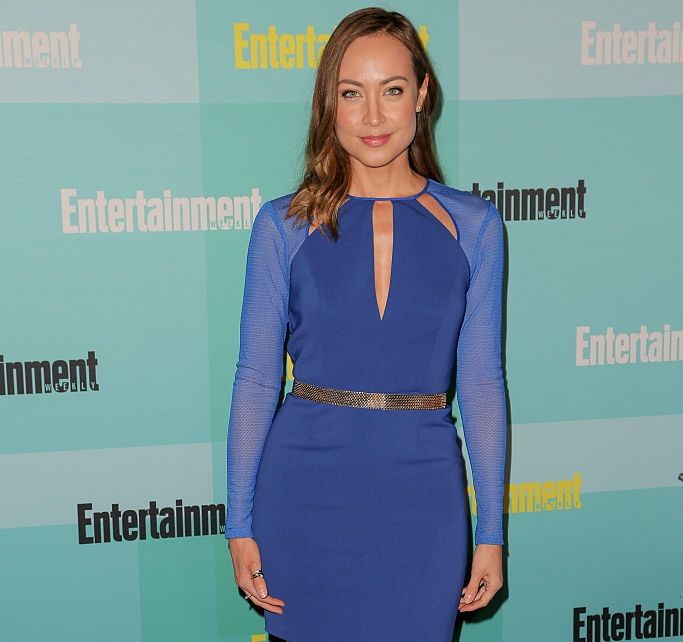 Courtney Ford in Blue Dress