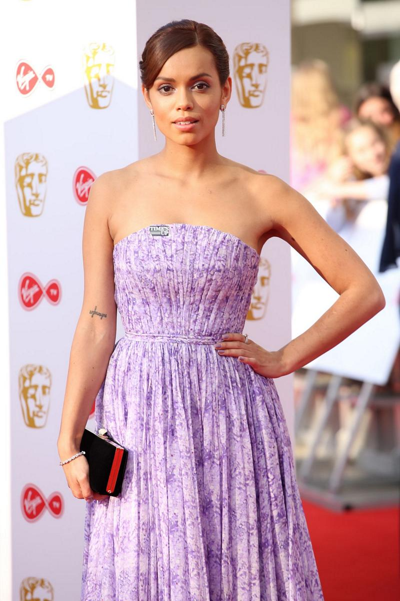 Georgina Campbell purple dress