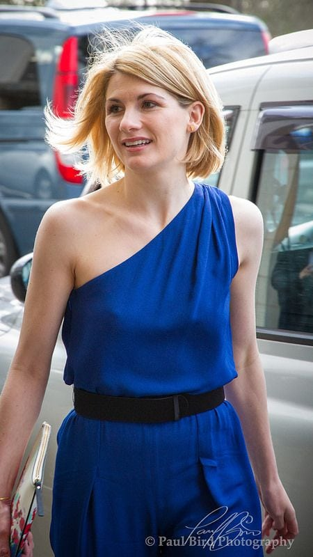 Jodie Whittaker Blue Dress