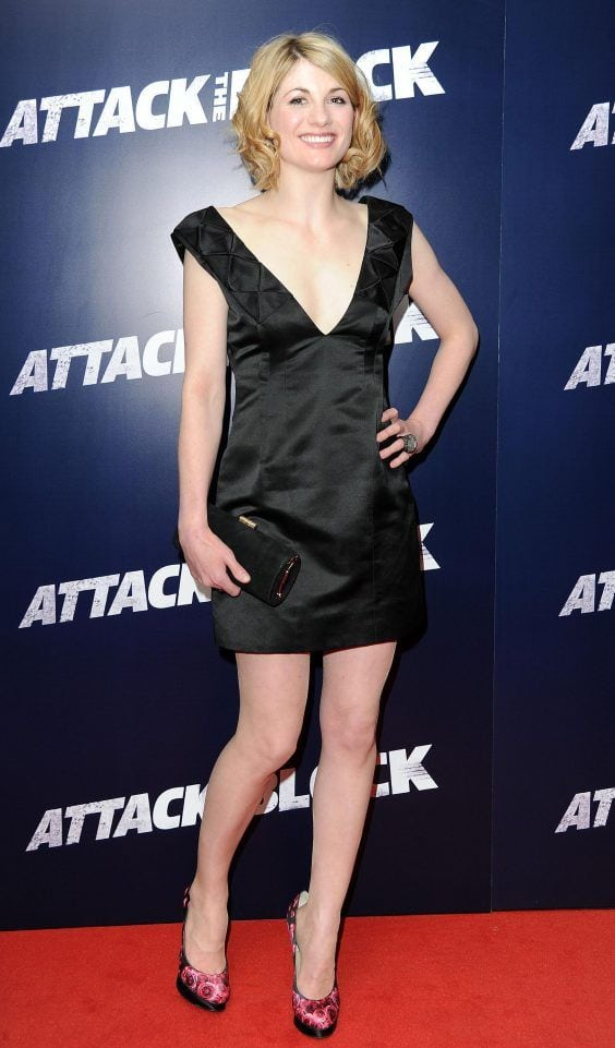 Jodie Whittaker Sexy Black Dress