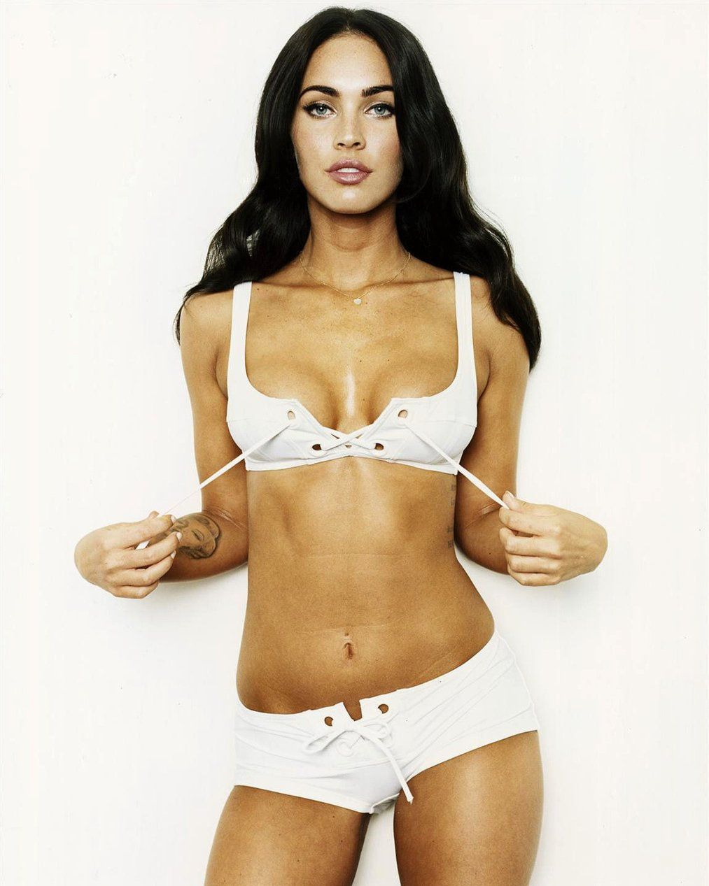 Megan Fox White bra