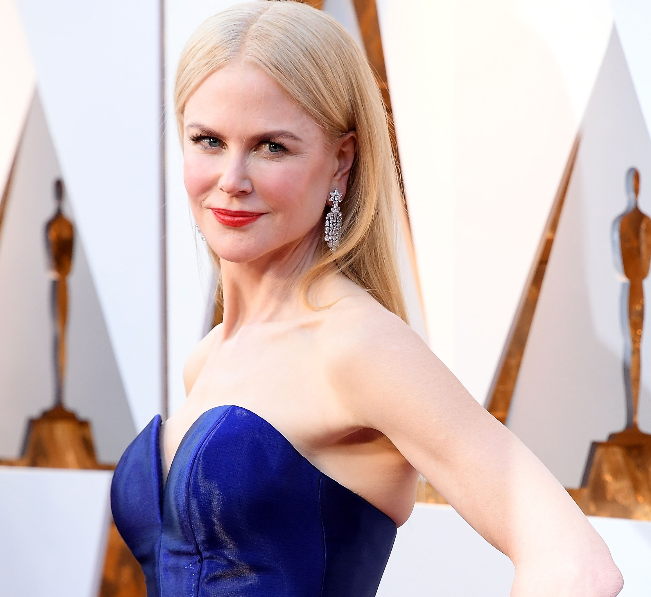 Nicole Kidman Blue Dress