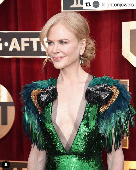 Nicole Kidman Green Dress
