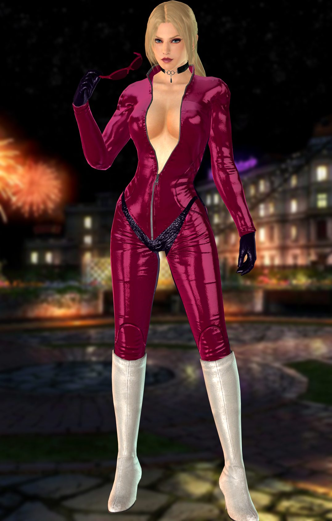 Nina Williams Pink Dress