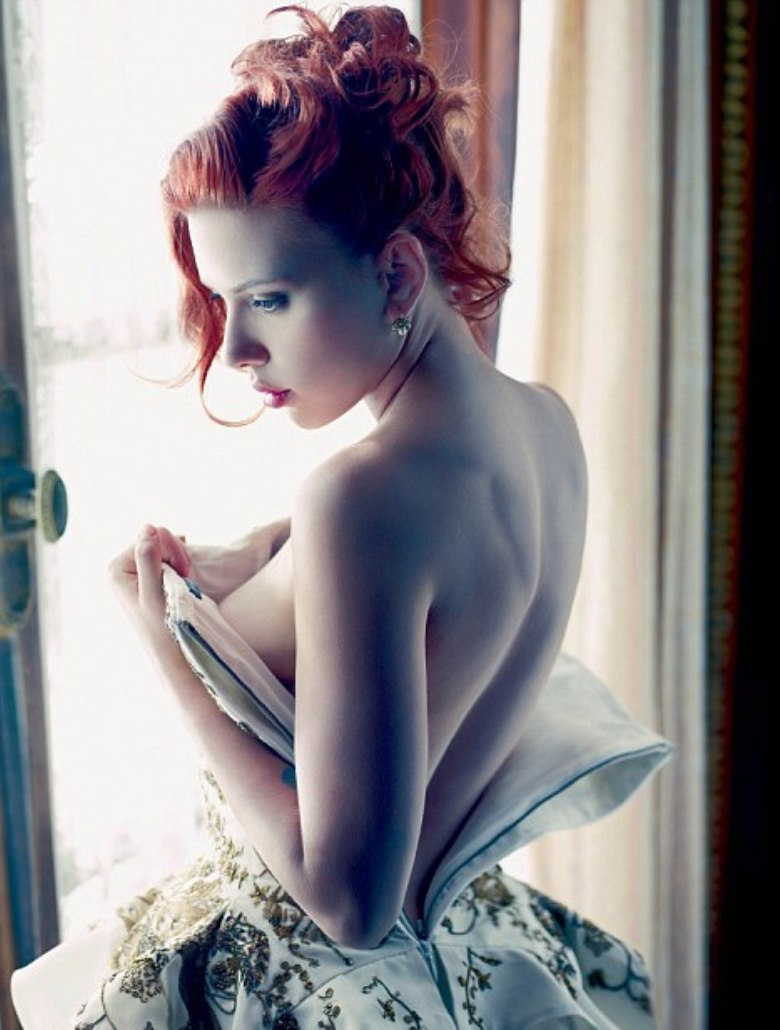 Scarlett Johansson Removing Cloths