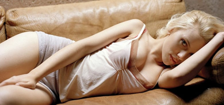 Scarlett Johansson Sofa Photoshoot