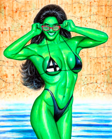 SHE-HULK IN BLACK FANTASTIC FOUR BIKINI