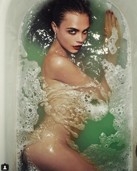 cara delevingne bathing