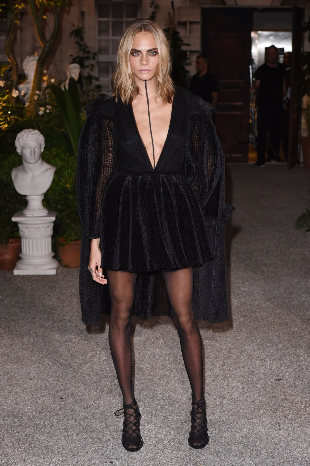 cara delevingne black dress