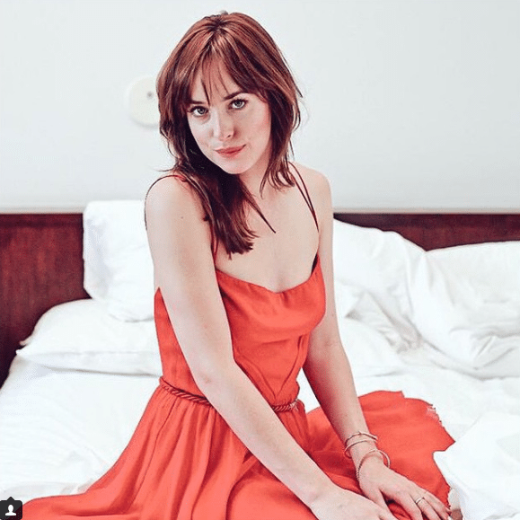 dakota johnson on bed