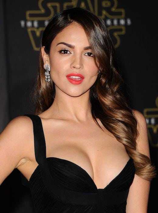 eiza gonzalez black dress