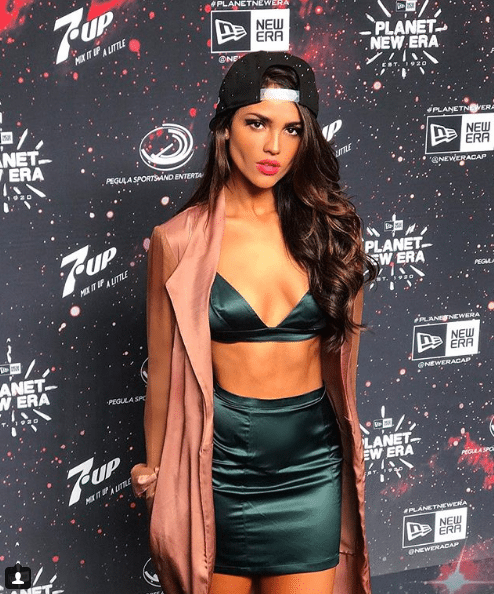 eiza gonzalez silk dress